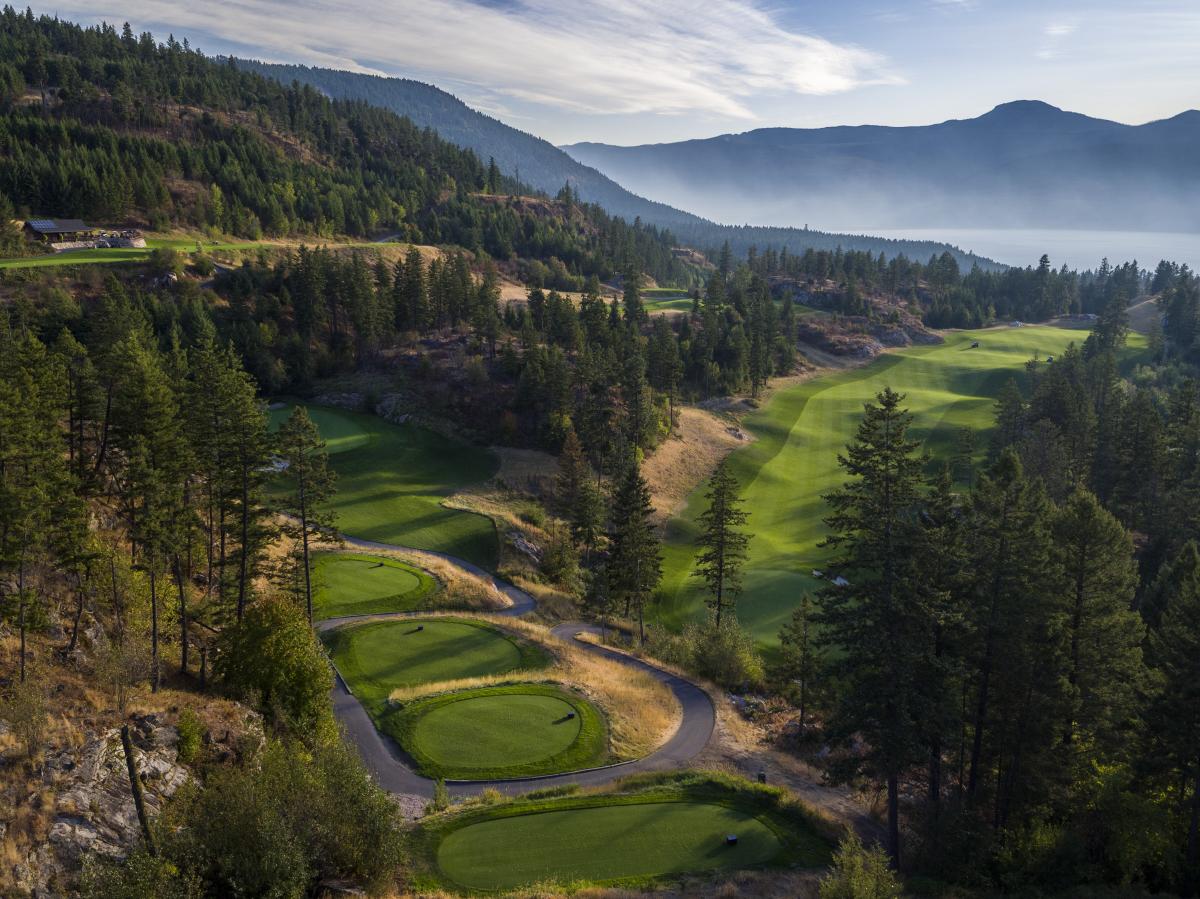 Commercial Photographer Kelowna - Aerial Predator Ridge Golf