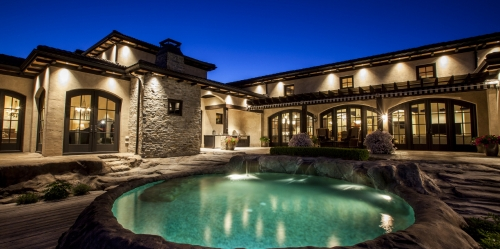 Shawn Talbot Kelowna Commercial Photographer luxury mansion swimming pool