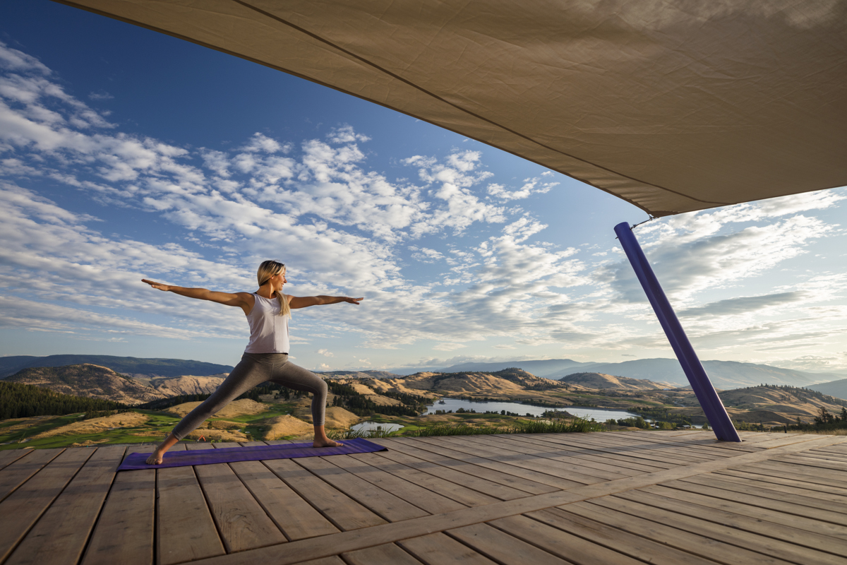 Shawn Talbot Kelowna Commercial Photographer predator ridge resort yoga lifestyle