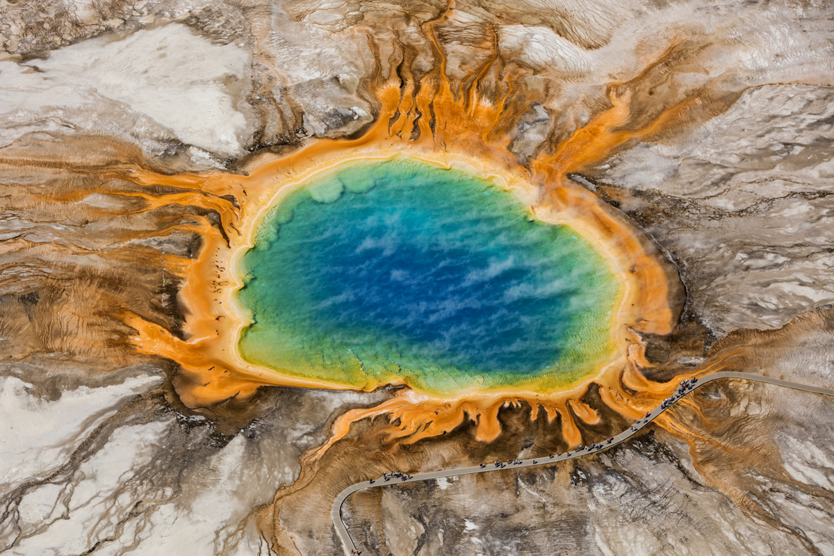 Shawn Talbot Kelowna Commercial Photographer yellowstone grand prismatic spring