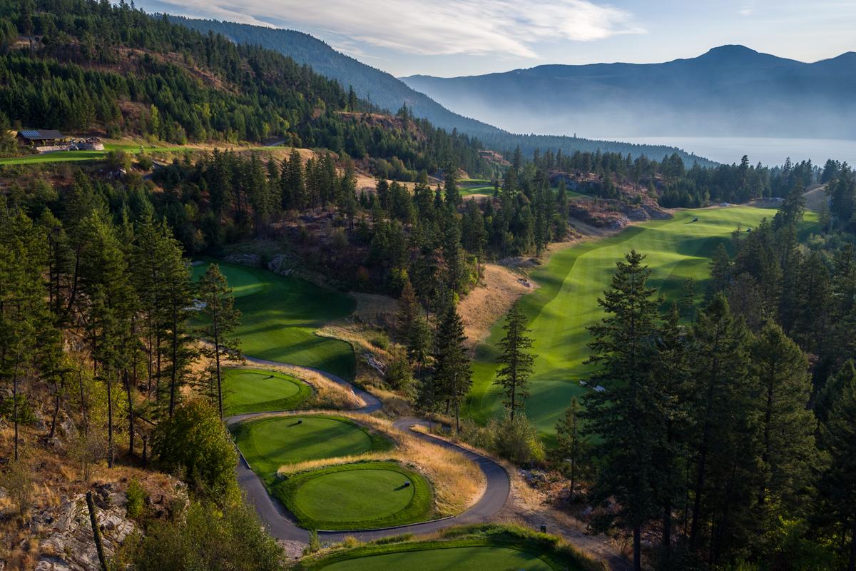 Shawn Talbot Commercial Photographer Predator Ridge Resort Golf Aerial