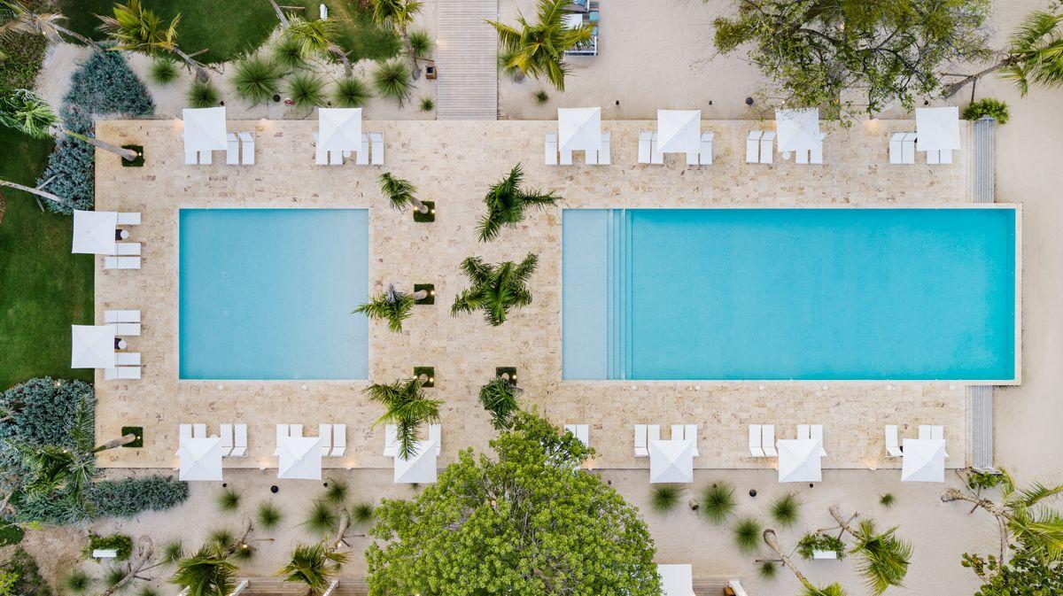 Aerial Shawn Talbot Luxury Hotel Resort Photographer Casa de Campo Family Pool