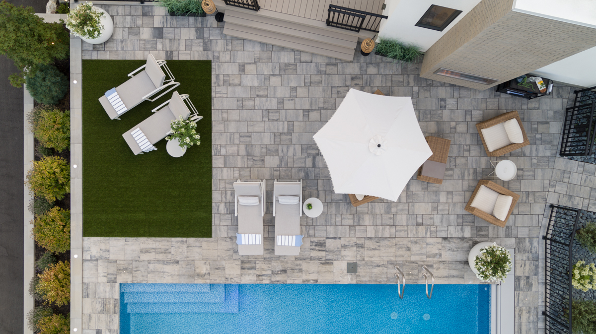 Aerial of Barkman patio deck by Shawn Talbot Photography