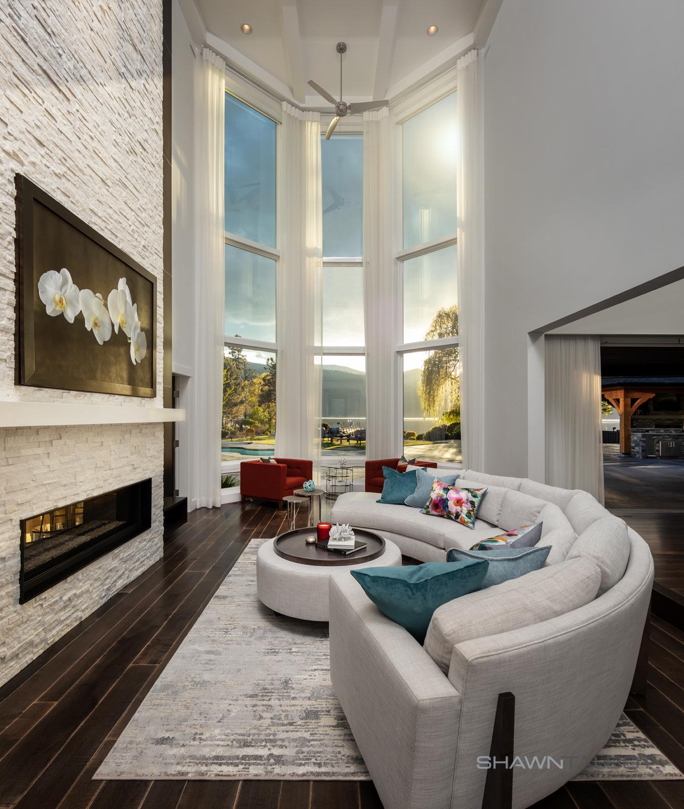 Shawn Talbot Architectural Photographer Living Room Lighting Interior