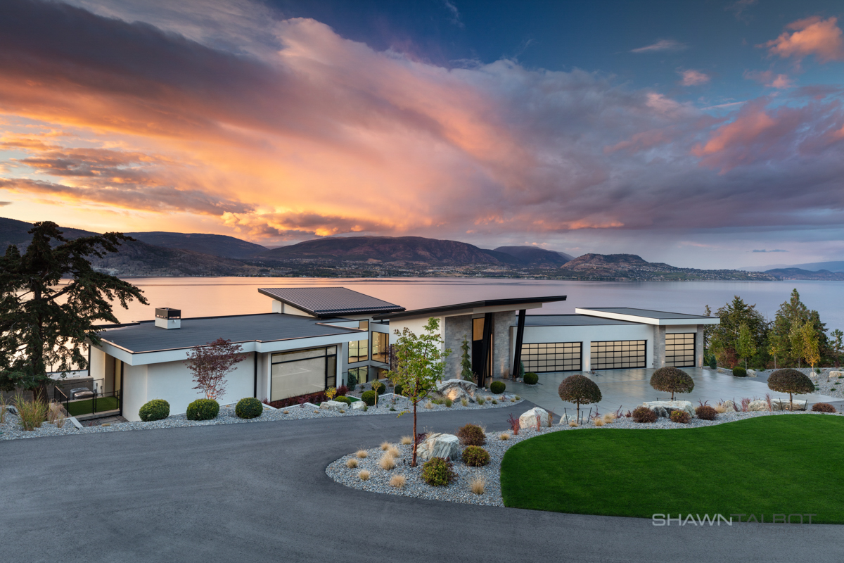 Shawn Talbot Architectural Photographer Luxury Home Exterior at Sunset