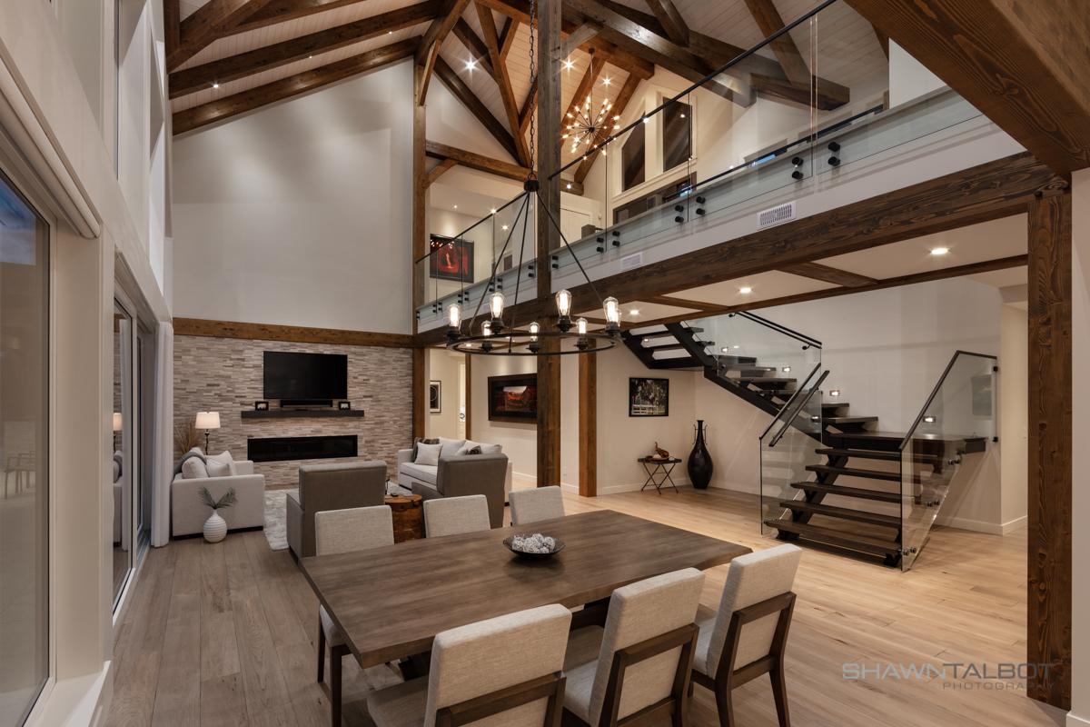Shawn Talbot Architectural Photographer European Timberframe Interior