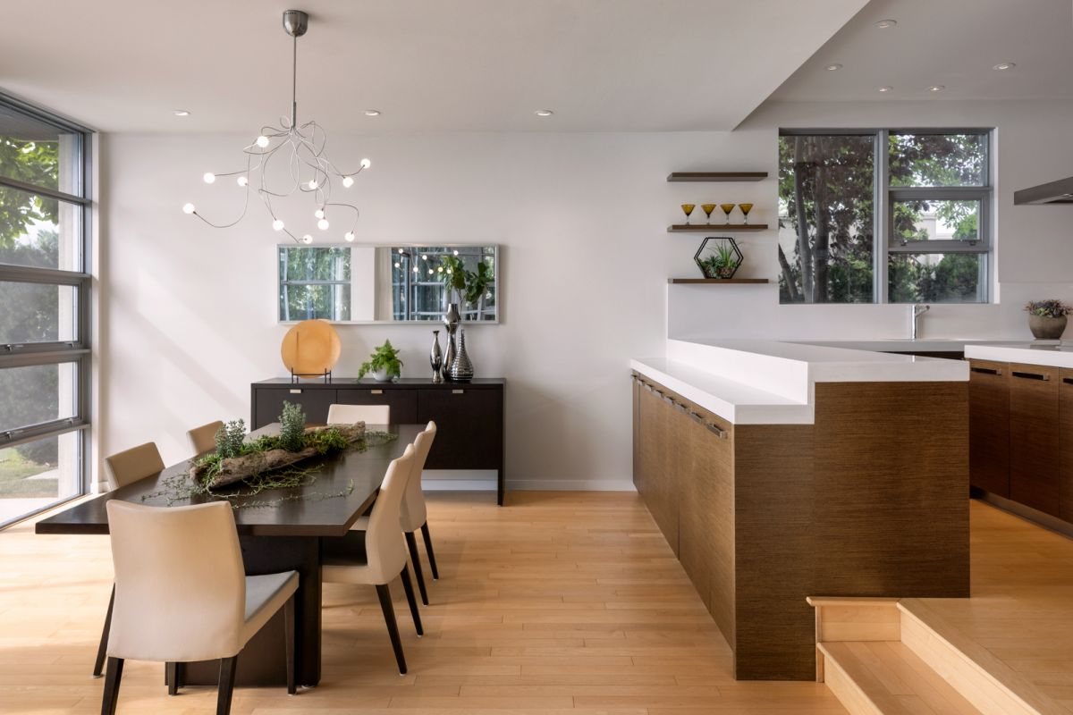 Sothebys architectural photograph by Shawn Talbot of dining room and kitchen in home